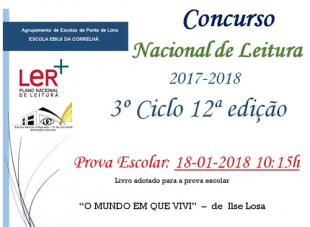 Prova Escolar do CNL 2017-2018 3º Ciclo